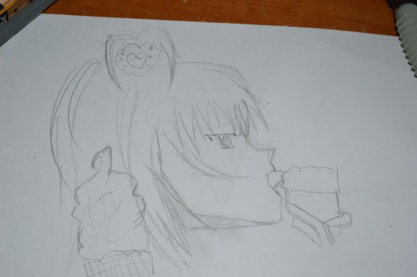 Suite a une demande j'ai commencé a faire le dessin que l'ont m'a demandé