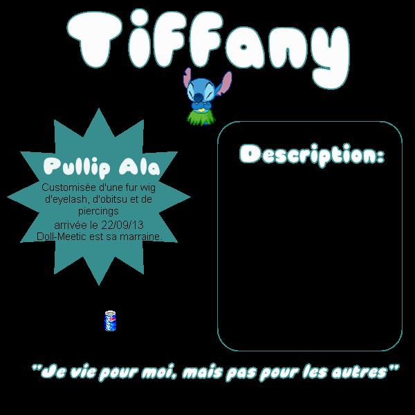 Tiffany, la première ~