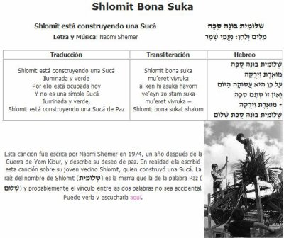 Shlomit Bona Suka (Cancion)