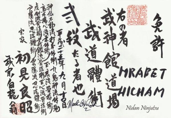 MY NIDAN NINJUTSU ( 2 Dan Black Belt )