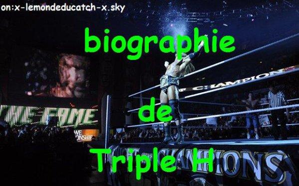 Biographie de Triple H
