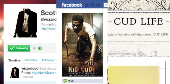 Les comptes/sites officiels de Cudi.