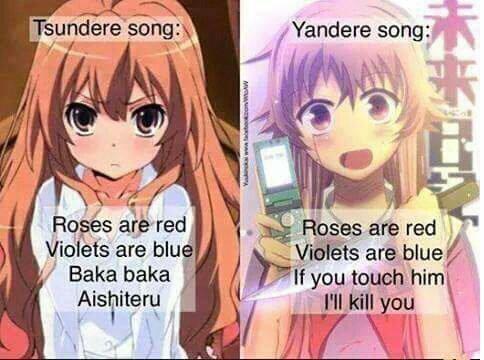 ⟅ Poème de Tsundere et Yandere  ⟆