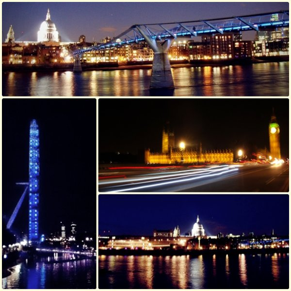 St Paul's • Fleet Steet • Trafalgar • Millenium Bridge • London Eye • Parliament