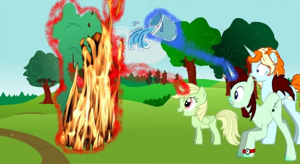 Voilà pourquoi Apple Fire a eu sa cutie Mark et pourquoi elle est la princesse du feu ! x3