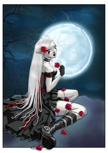 manga gothique avec rose