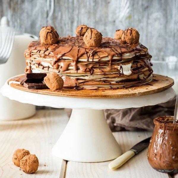 Gâteau de crêpes express au chocolat