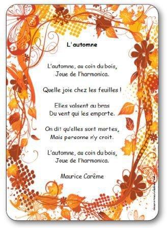 """Poésie illustrée L'automne de Maurice Carême - Poésie """"L'automne"""" à ... Dessine-moi une histoire Poésie L'automne de Maurice Carême, automne maurice careme"""