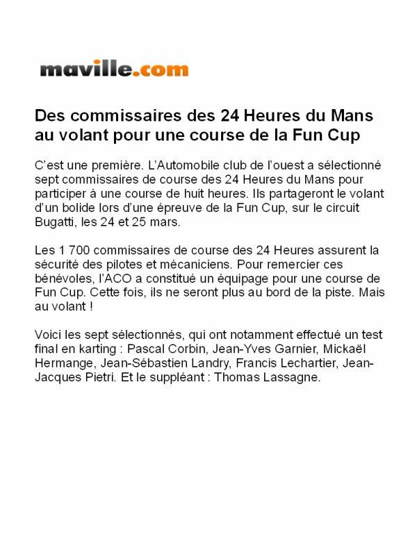 Les Commissaires du Mans dans la Course