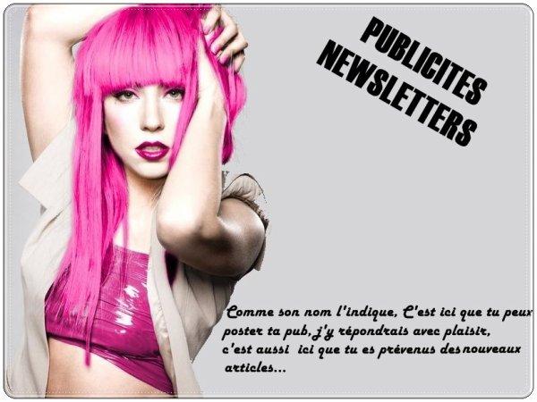 Newsletters & Publicités