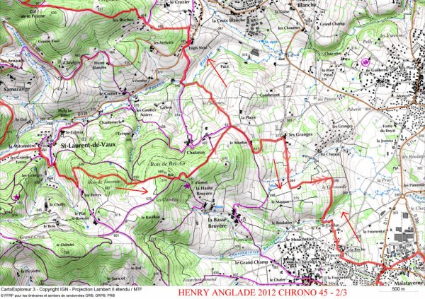Info parcours 45 km chrono
