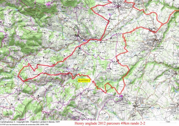 Info parcours 50 km rando