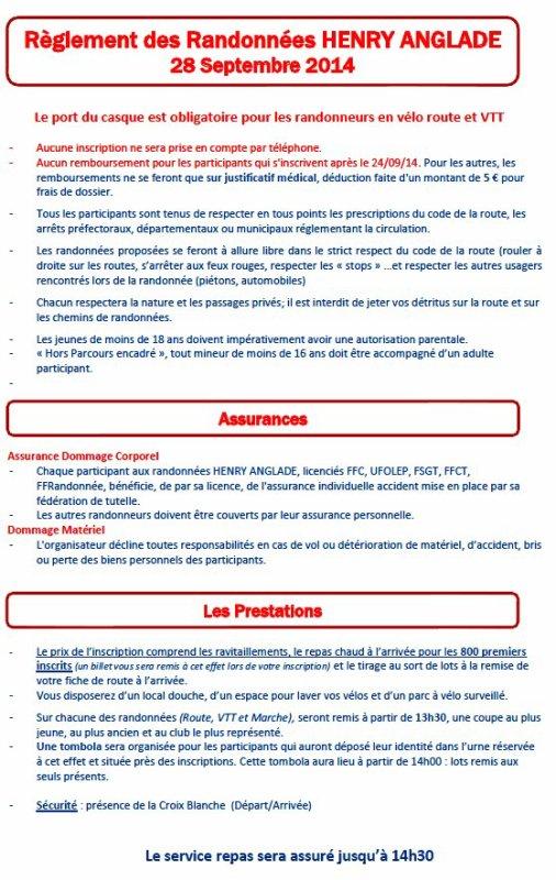 Réglement  HA 2014