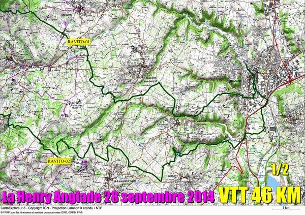 Les 4 parcours VTT
