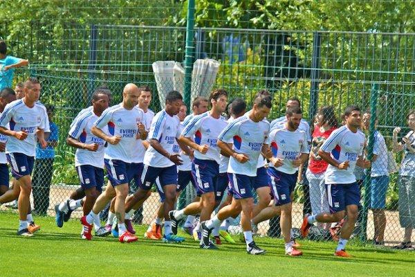 Yoann de retour à l'entrainement (Mardi 12 juillet 2011)