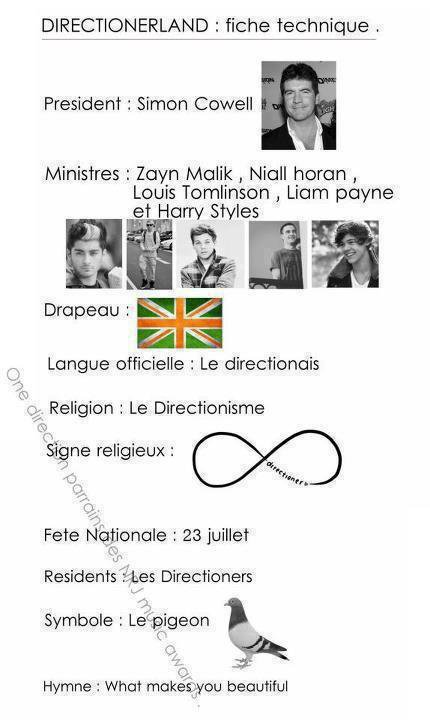LA fiche techinique de one direction