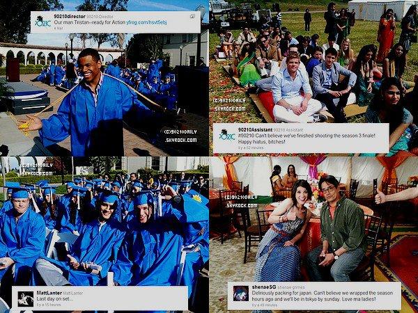 01.03.2011 ~ 04.03.2011 Le cast de 90210 dans les derniers jours de tournage...de la saison 3 !