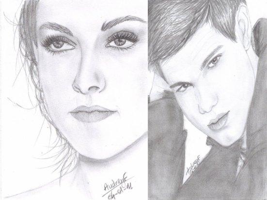 Voici quelques dessins De Kristen,Robert et Taylor.Plutot bien réussis je trouve !