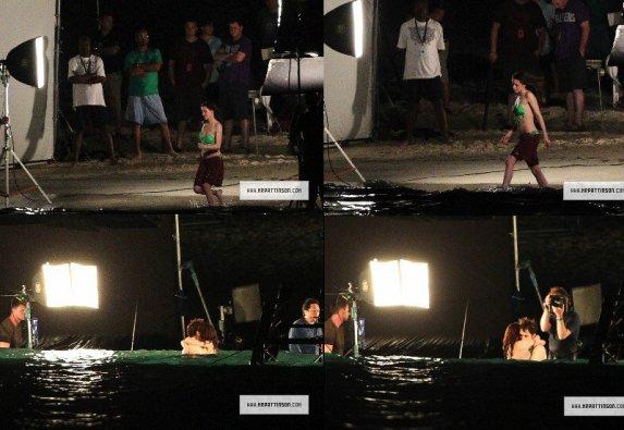 Robsten a été aperçu dans les Caraïbes pour des re-shoots de certaines scènes de la lune de miel !