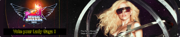 Lady Gaga nominé pour les NRJ Music Awards 2oII !