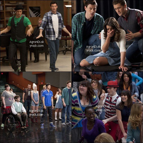 """____________________________Episode 2x18  """" Born This Way """" _______________ Quatre stills du 18ème épisode de la saison 2 de glee. Un 18ème épisode qui sera en fait un super sized épisode qui ne durera ____________________________pas moins de 90 minutes. Alors heureux ? Oui, plus que tout !"""