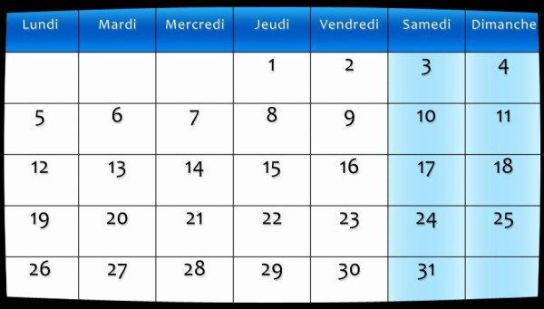 Calendrier Août 2013 / Dates Meetings