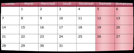 Calendrier Juillet 2014 / Date Meetings