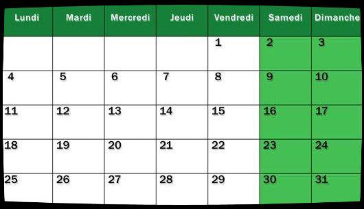 Calendrier Août 2014 / Dates Meetings
