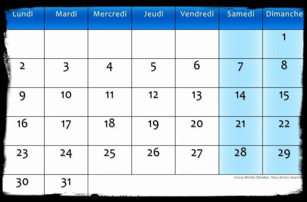 Calendrier Mars 2015 / Dates Meetings