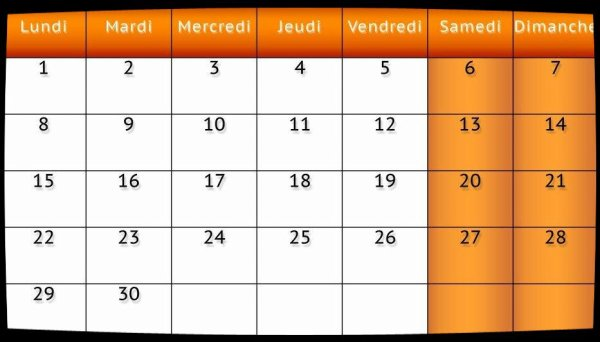 Calendrier Dates Meetings Juin 2015