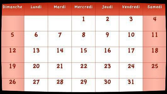 Calendrier Dates Meetings Juillet 2015