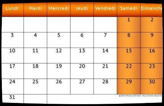 Calendrier Août 2015 / Dates Meetings