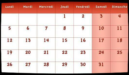 Calendrier / Dates Meetings Oct 2015