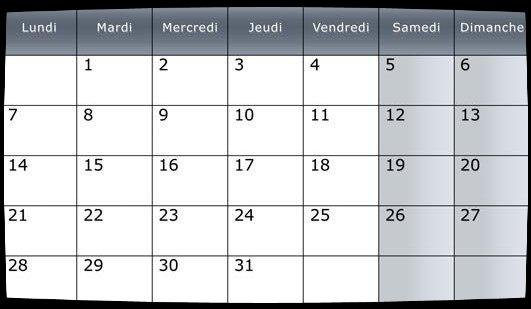 Calendrier  Dates Meetings Déc 2015
