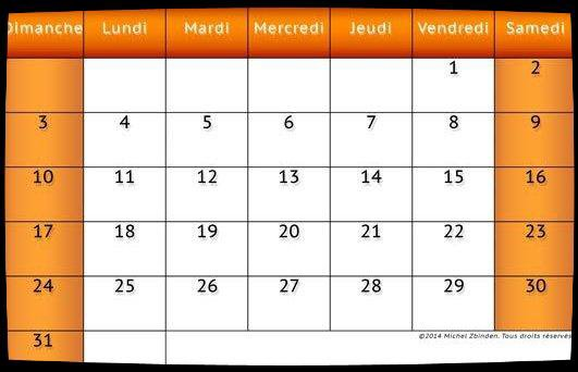 Calendrier  Dates Meetings Janvier 2016