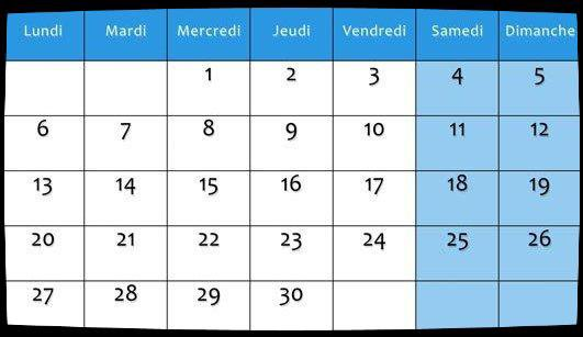 Calendrier Dates Meetings Juin 2016