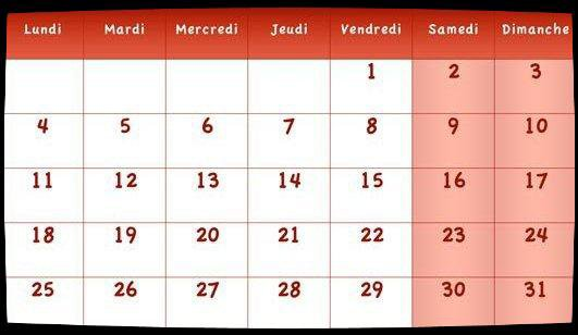 Calendrier Dates Meeting Juillet 2016