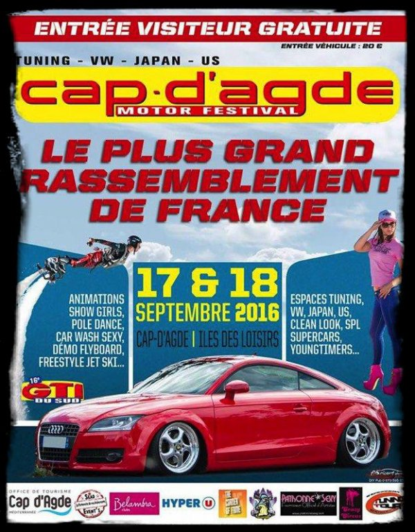 """Cap D'Agde Motor Festival 2016"" - A ne pas manquer !"