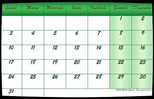 Calendrier dates Meetings Octobre 2016