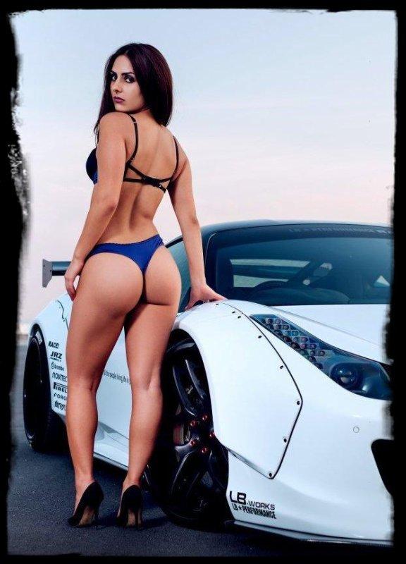 """Sexy et Super Cars """"Carmin HITCHCOX - FERRARI 458 Italia -  Liberty Walk"""""""