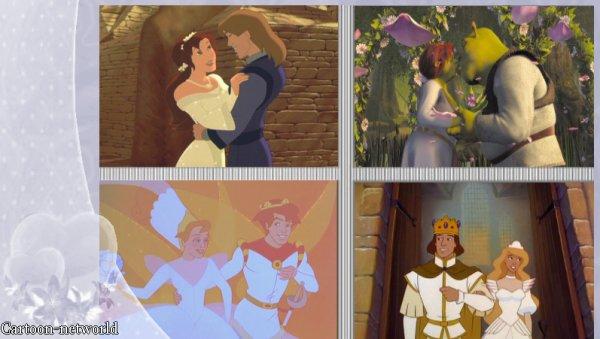 Mariages princiers dans les dessins animés