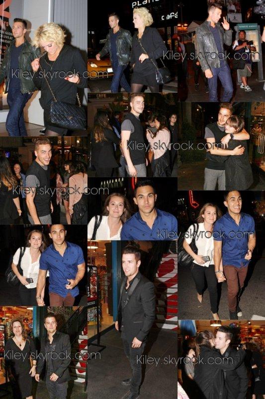 """Le 28/04/2014 Kendall , Carlos accompagner de sa femme Alexa , Logan & sa maman ont rendu une visite à James Lors De DWTS pour soutenir James + photos personnelle de Carlos + bande annonce du film """" La vida robot """""""