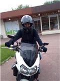 Moi sur la moto de mon Père