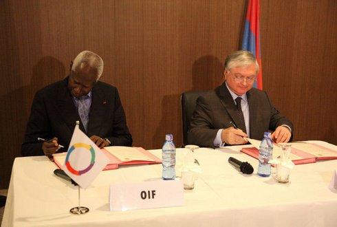 L'Arménie et l'OIF signent un Pacte linguistique