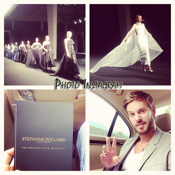.  Le 2 Juillet Matt est apparu à la Fashion Week pour voir le défilé du créateur   Stéphane Rolland pour sa nouvelle collection haute couture d'Automne-Hiver 2013/2014 !   Matt était habillé d'un jean délavé, blazer gris merveilleusement bien taillé accompagné d'un t-shirt blanc. .
