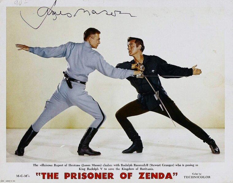 """Autres acteurs dans le film """"Le prisonnier de Zenda"""" ; outre James MASON et Stewart GRANGER, on trouve Robert COOTE, Louis CALHERN, Lewis STONE ou encore Robert DOUGLAS..."""