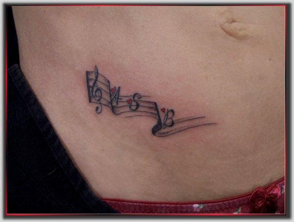 Fabulous Partition de musique - Monick Art Tattoo - tattoo Art Monick ZM87