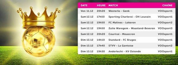 Jupiler pro League  - 19° journée - Calendrier