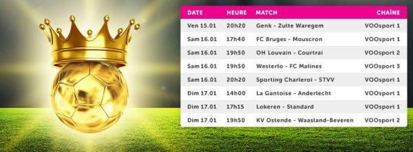 Jupiler pro League  - 22° journée - Calendrier