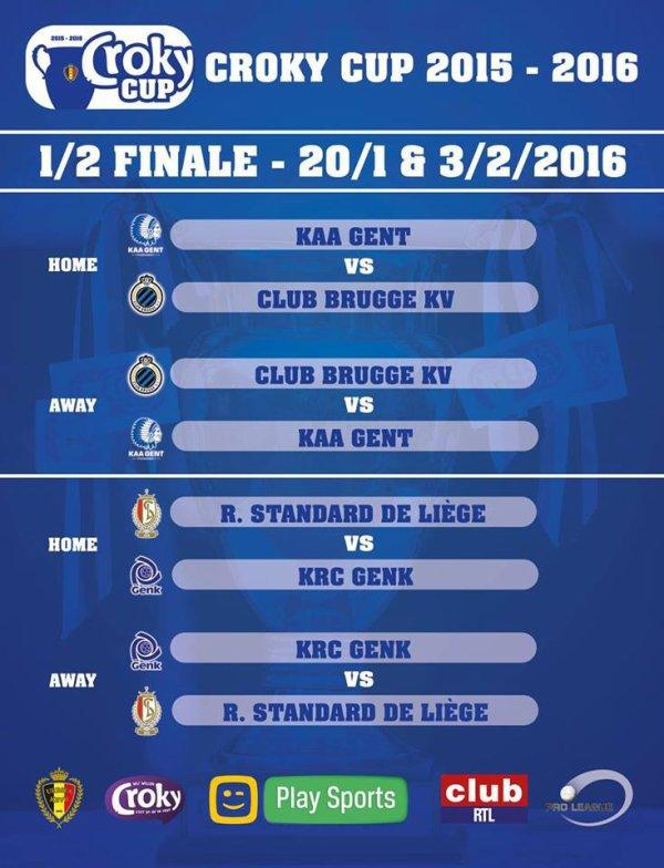 Croky Cup - 1/2 de finale - Calendrier